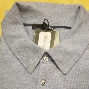 Murano Blue Wool Sweater, New. 3XT, Merino Wool